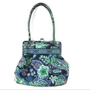 Vera Bradley Kiss Lock Blue Rhapsody Alice Bag